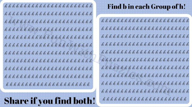 Can You Find Hidden 'b' Picture Puzzle