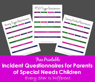 Free Incident Quesstionnaire for Parents of Special Needs Children