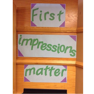 display that says First Impressions Matter