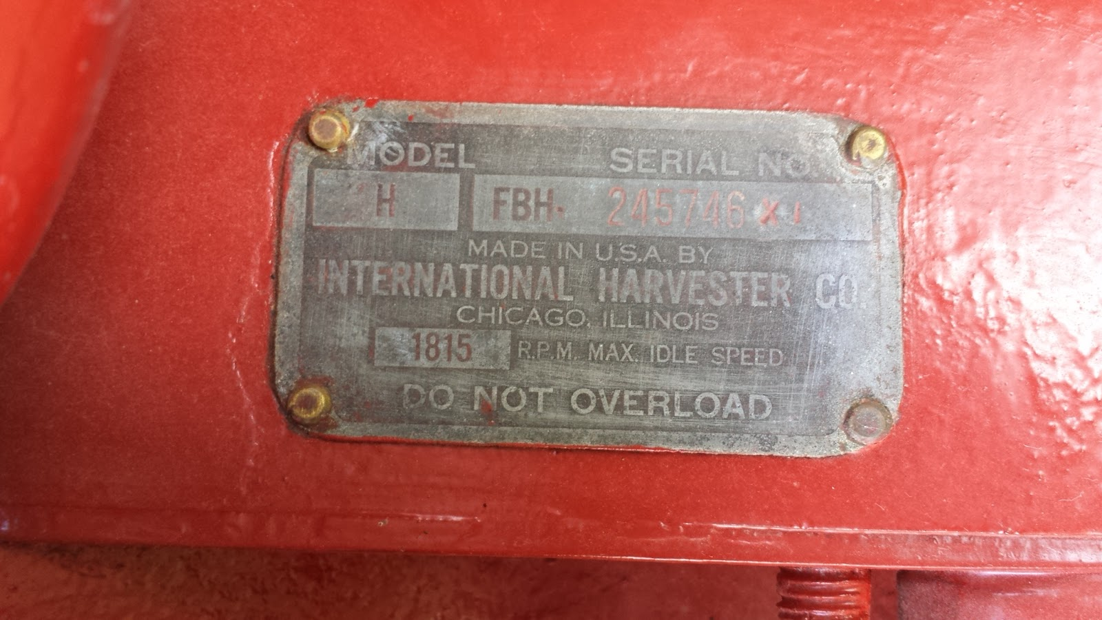 recumbent conspiracy theorist 1947 farmall h Farmall 706 Tractor by looking up the serial number from the rating plate i was able to determine this farmall h model was built in 1947 a fresh coat of paint really helps