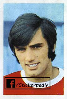 George Best Manchester United sticker FKS 1968 69