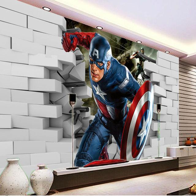 Avengers Wall Mural Captain America 3D