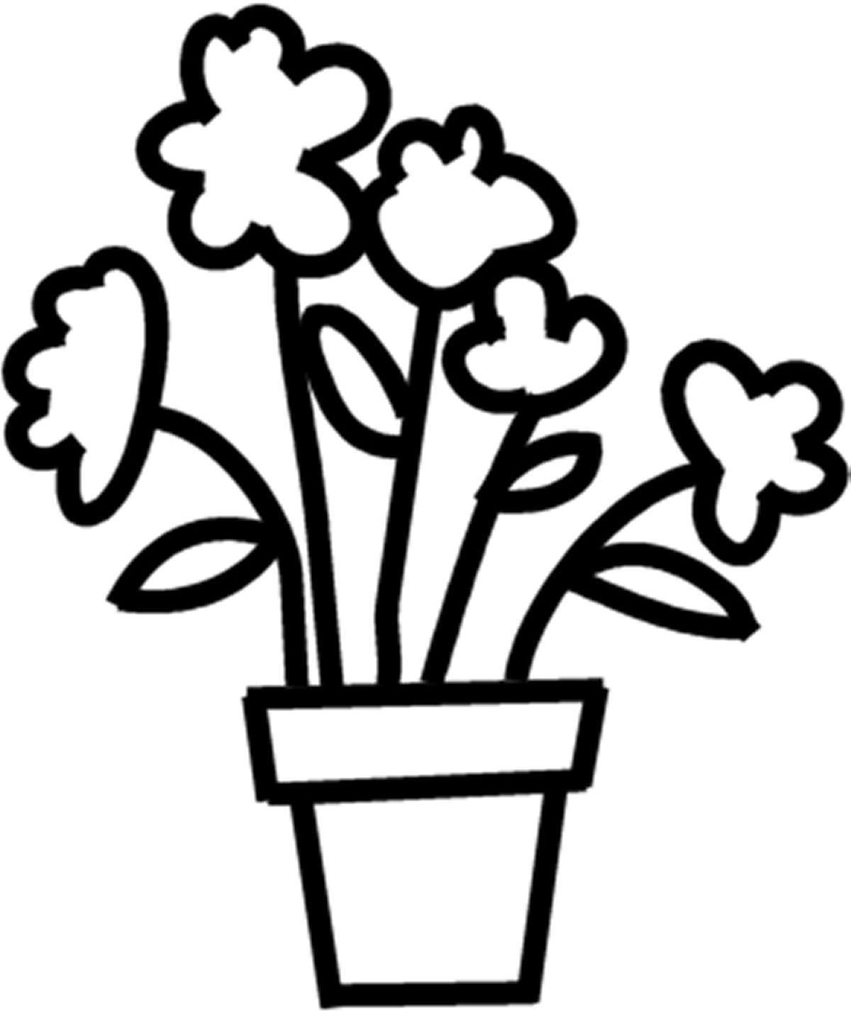 Flower pot black and white greenfain scribbles designs f 138 flower pot 2 free mightylinksfo