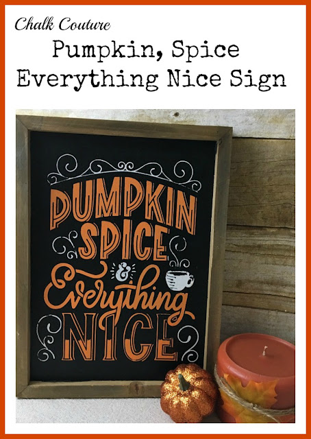 Vintage Paint and more... Pinterest image of vintage farmhouse Fall sign using Chalk Couture chalk paste and transfer