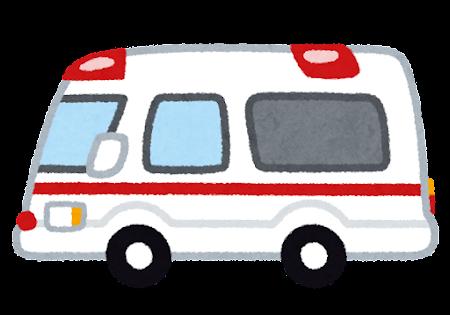 横向きの救急車のイラスト