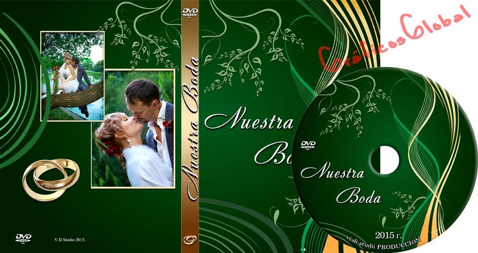 Portada DVD con fondo verde floral