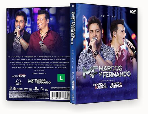 CAPA DVD – Marcos & Fernando Ao Vivo DVD-R