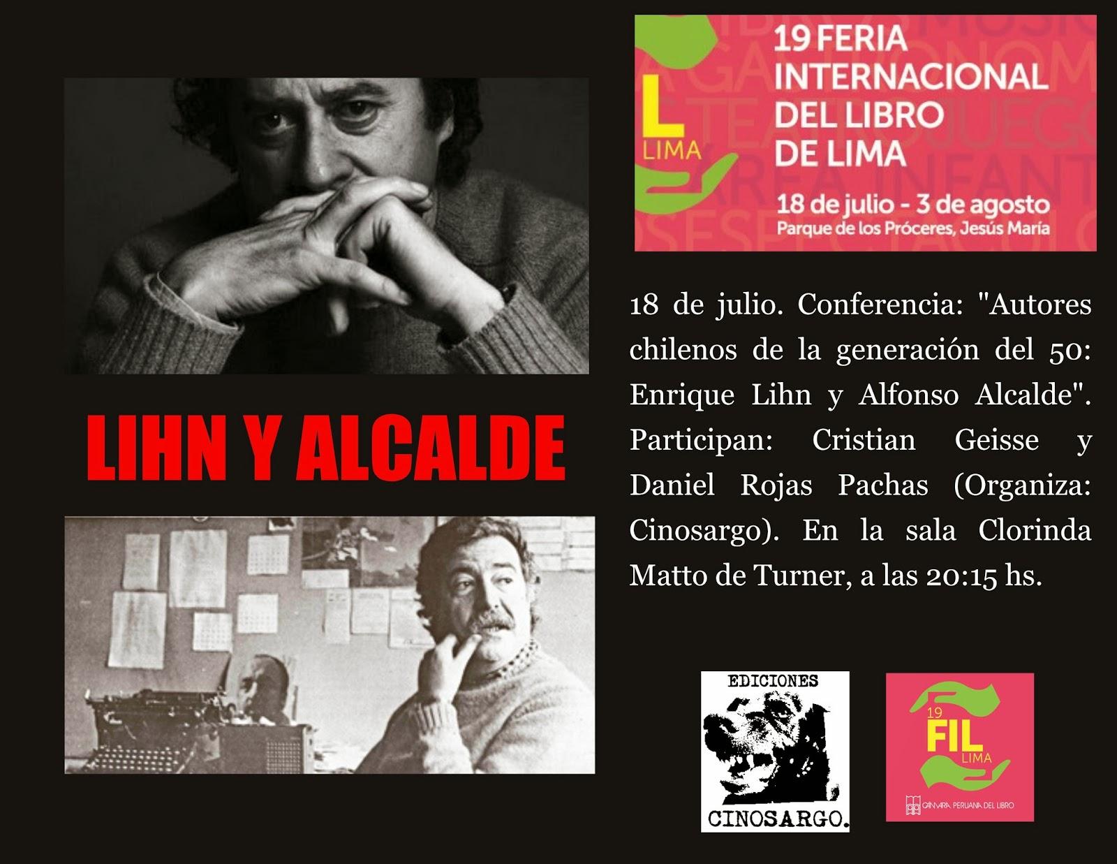 Autores chilenos de la generación del 50: Enrique Lihn y Alfonso Alcalde en la FIL Lima 2014