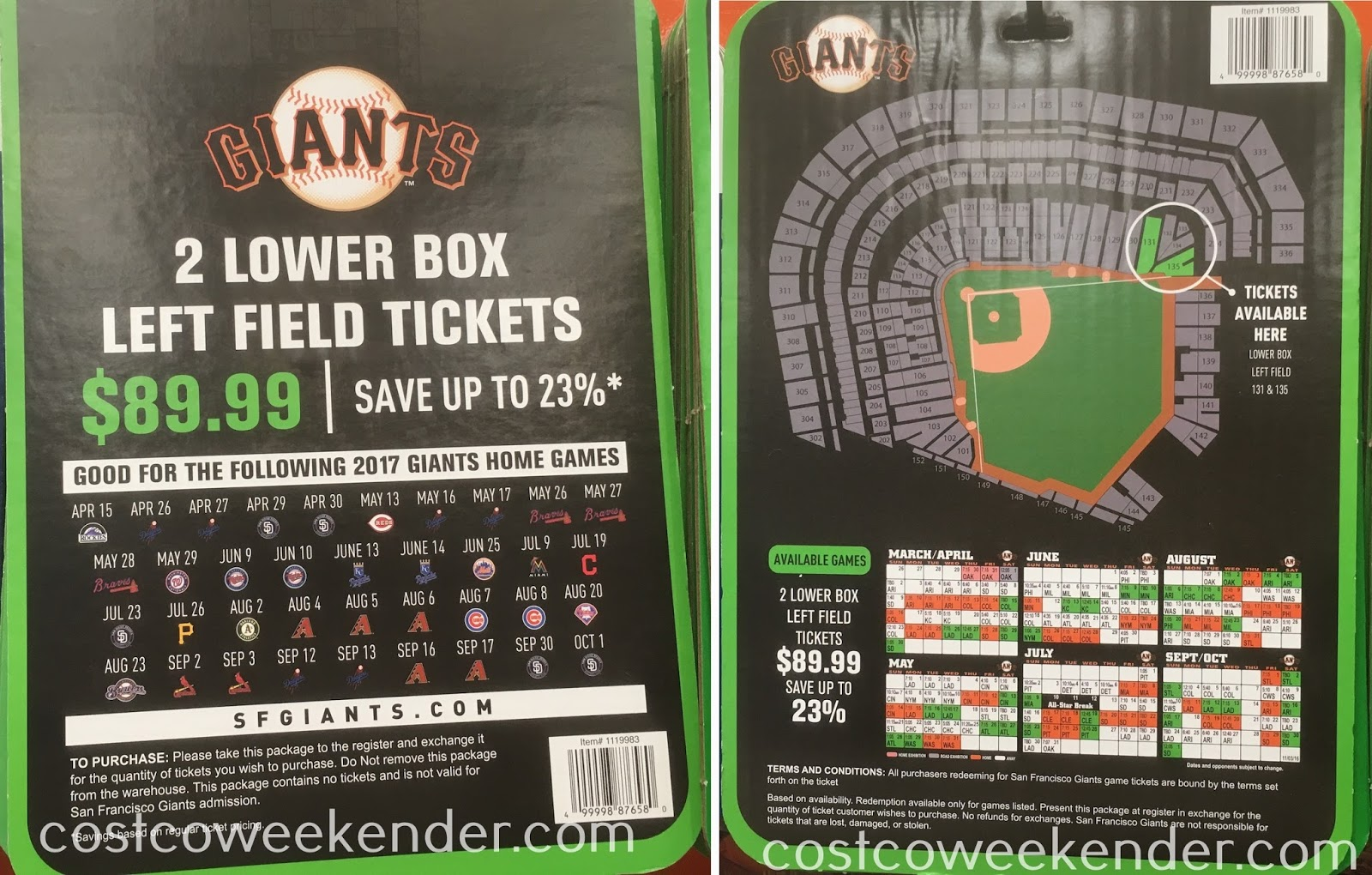Catch a Giants game at AT&T park for cheap