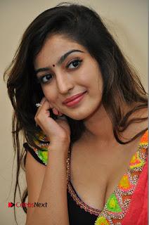 Actress Vaibhavi Joshi Pictures in Red Saree at Guntur Talkies 2 Movie Opening  0018.JPG