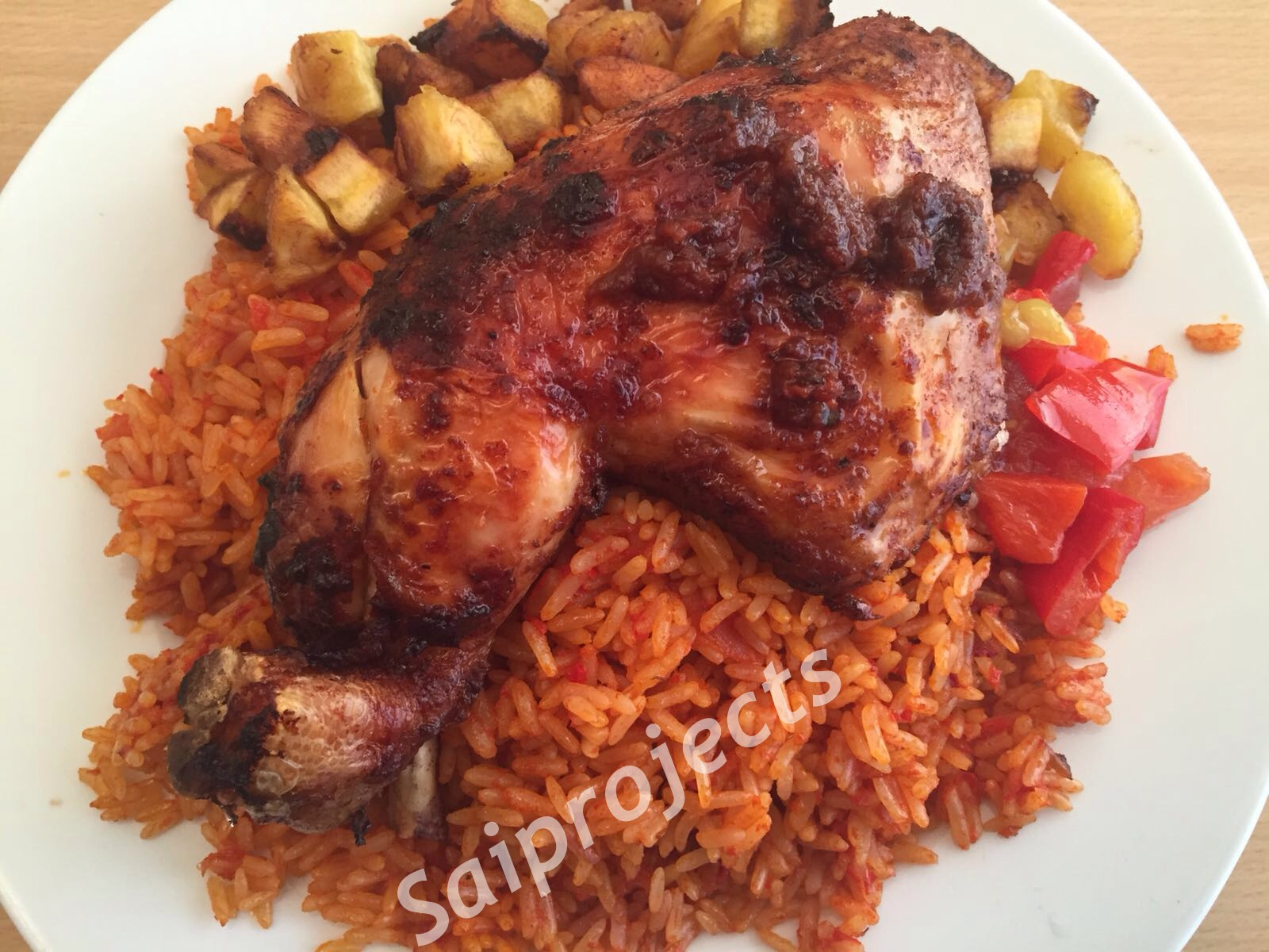 Saiprojects jollof rice with peri peri chicken and plantain jollof rice with peri peri chicken and plantain ccuart Gallery