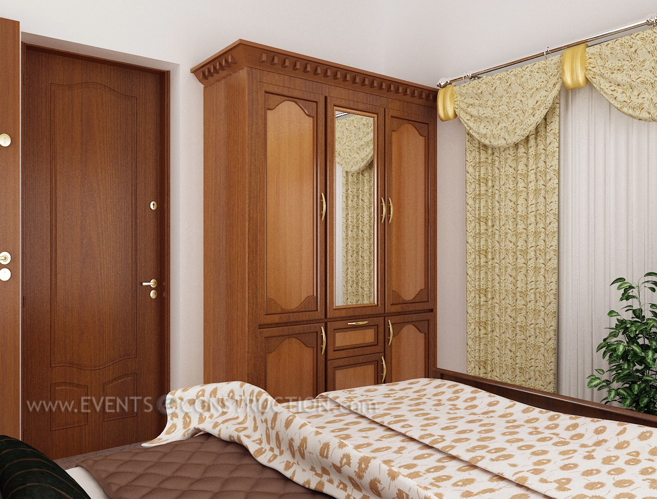 Evens Construction Pvt Ltd Bedroom Interior For Kerala Home