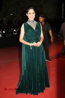 Actress Pragya Jaiswal Stills in Green Long Dress at Gemini TV Puraskaralu 2016 Event  0104.JPG