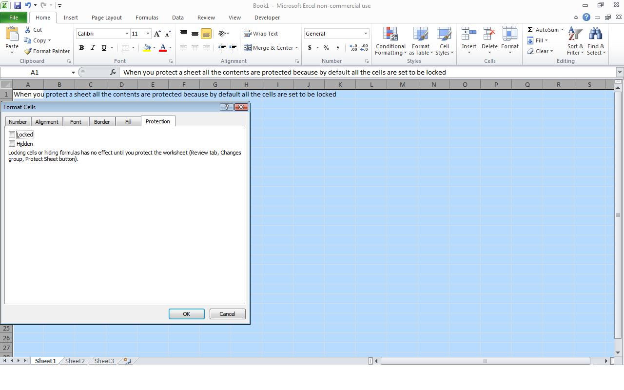 Power Of Excel How To Protect A Cell In Excel