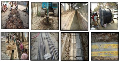 Trenches Excavation  and Underground Cable Installation