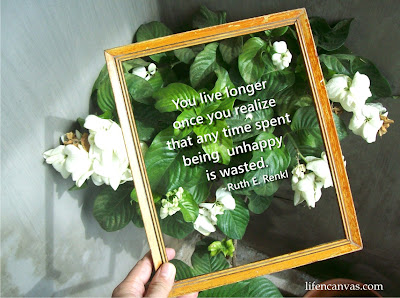 picture frame quote life