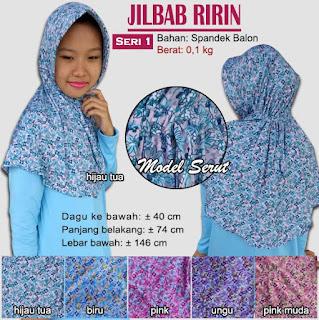 Jilbab serut bergo motif cantik - ririn seri 1