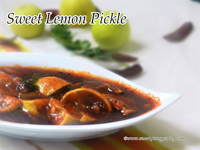 Sweety Tangy Spicy Sweet Lemon Pickle Madhuramulla Naranga Achar
