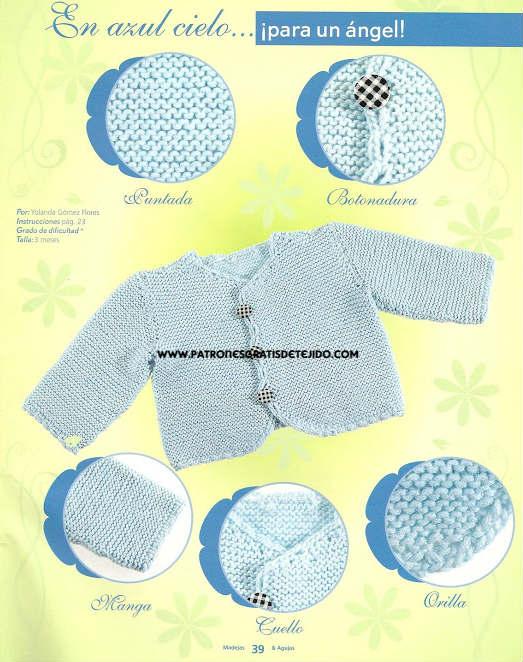 chambrita de bebe tejida con instrucciones
