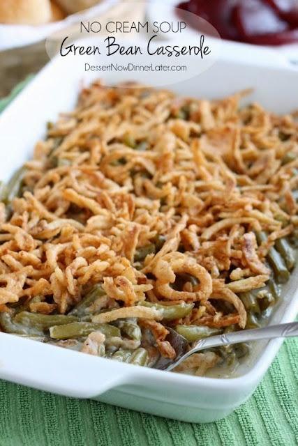 http://www.dessertnowdinnerlater.com/2014/11/no-cream-soup-green-bean-casserole/