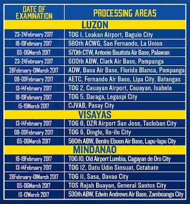 Air Force Qualifying Exam Schedule
