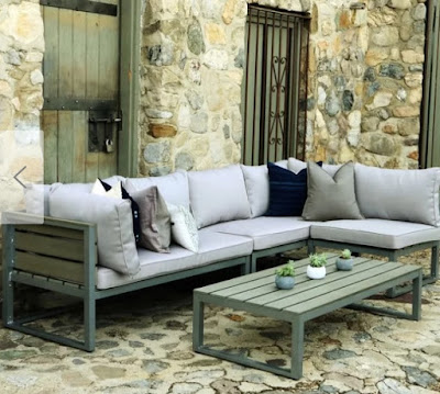 stylish modern outdoor sofa on a budget