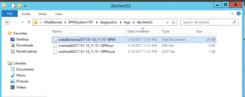 Exploits in Hyperion: Oracle Client Install failing in