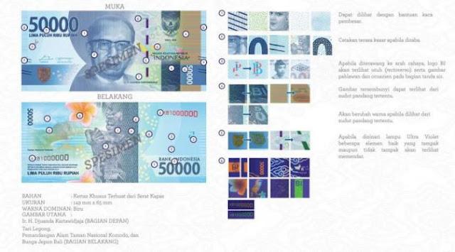 Desain Uang Baru NKRI 2017,  Ini Gambar 11 Pecahan Rupiah BI Serta Nama Pahlawan Yang Masuk