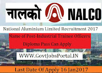 National Aluminum Limited Recruitment 2017 For Industrial Trainee Officer