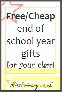 teacher advice on gifts presents for their primary school class