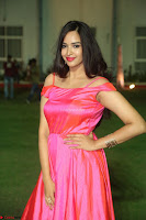 Actress Pujita Ponnada in beautiful red dress at Darshakudu music launch ~ Celebrities Galleries 001.JPG