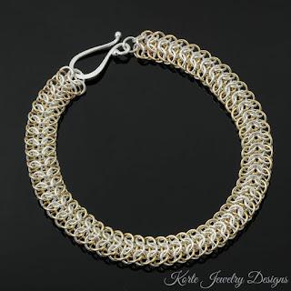 Two-Tone Interwoven 4-in-1 Bracelet