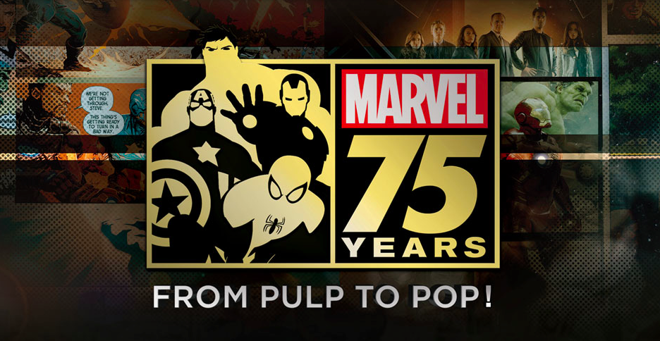 Marvel 75 years: from pulp to pop! will chronicle the history of Marvel