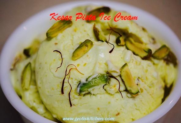 Kesar Pista Ice Cream recipe with step by step photo