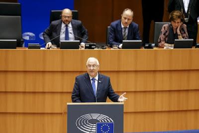 Presidente israelense ao parlamento da UE
