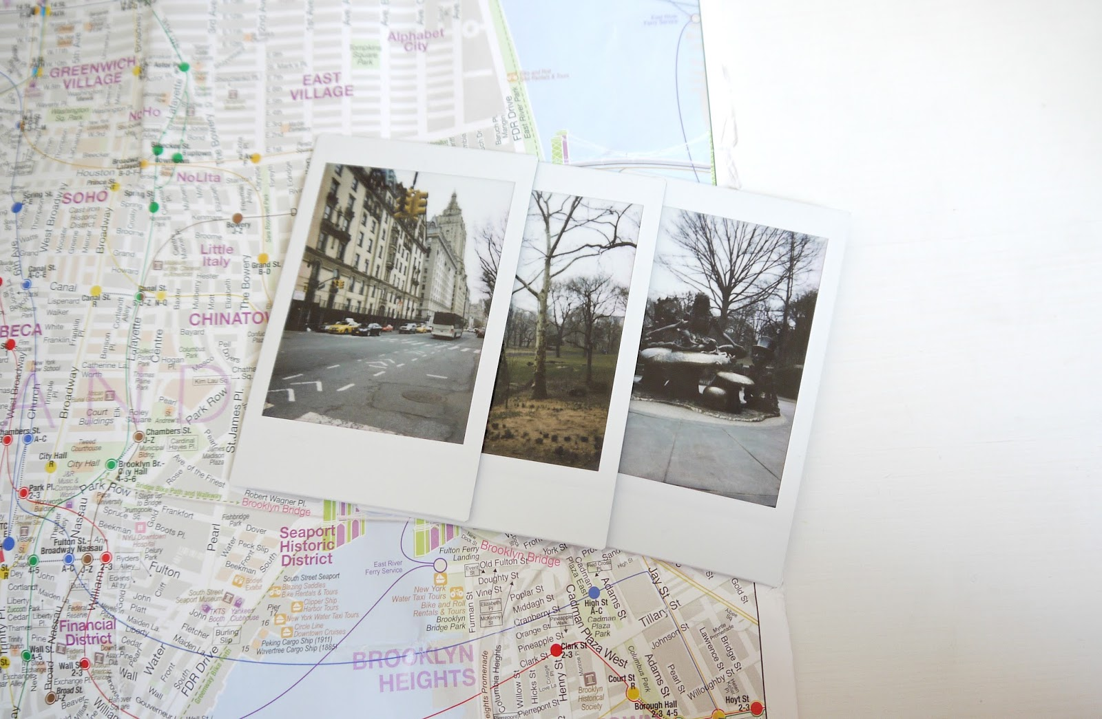 Documenting your travels through poloroid photos