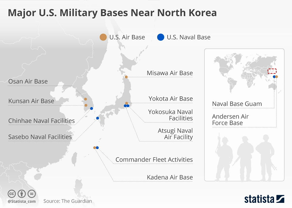 Running Cause I Cant Fly Mapping Major US Military Bases Near - Us Air Force Bases In Japan Map