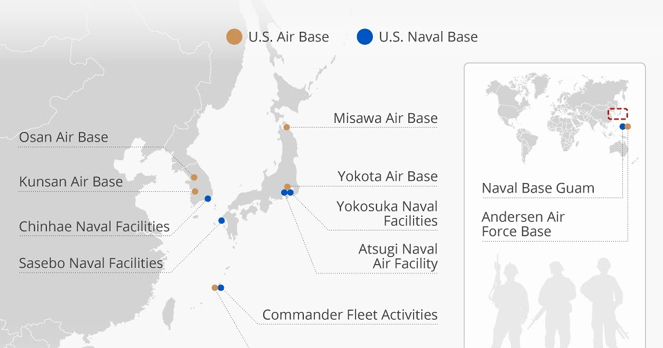 """Running \'Cause I Can\'t Fly: """"Mapping Major US Military Bases ..."""