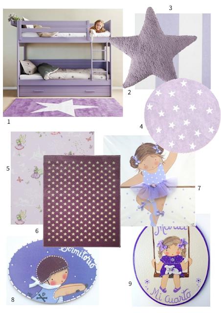 decoracion infantil morado
