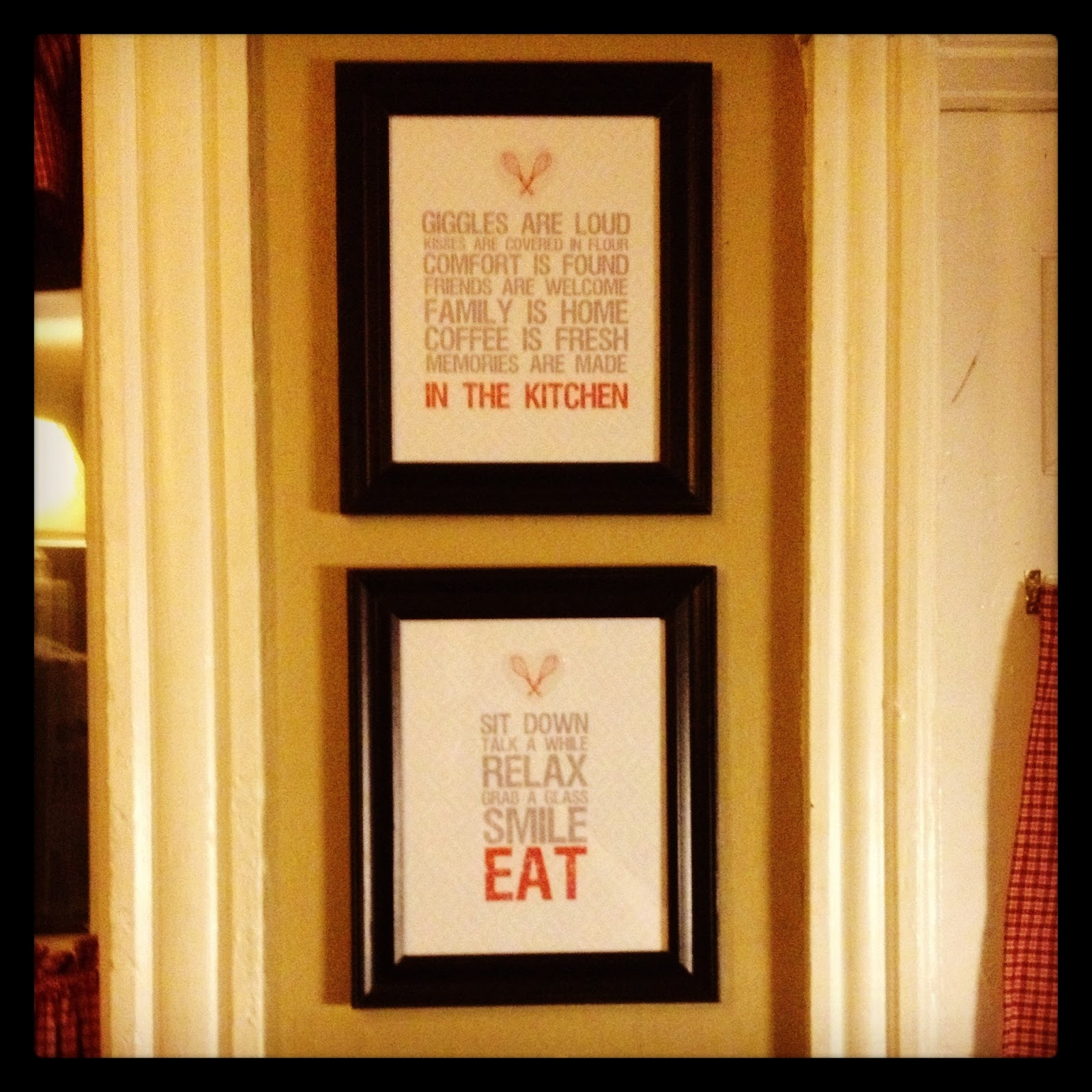Two Steps Forward and I'm Not Looking Back: Kitchen Wall ... on Pinterest Wall Decor  id=74771