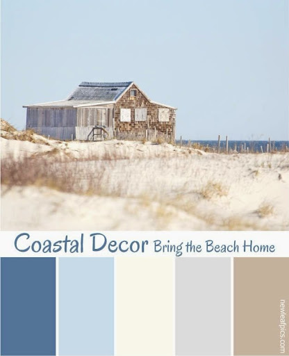 Coastal Beach Theme Paint Color Ideas