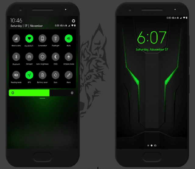 Tema Xiaomi Tembus Black Shark Helo v10 by AlexWolf