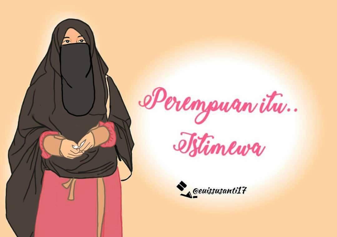 115 Gambar Kartun Muslimah Kata Kata Bijak Salamun Picassa
