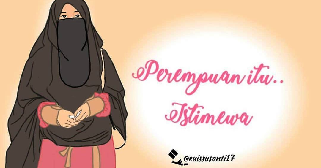 Gambar Kartun Muslimah Bercadar Ajib Hijab T Muslim