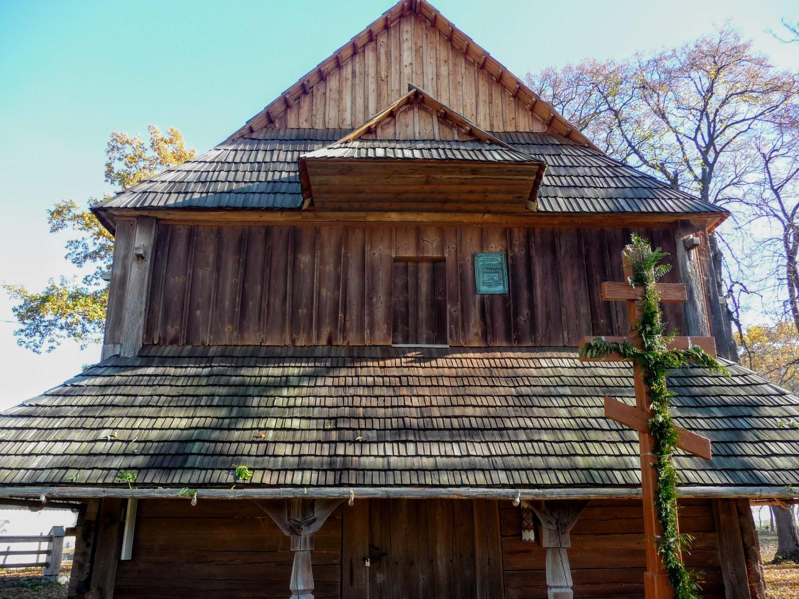 Добрівляни. Дерев'яна церква Воздвиження Чесного Хреста