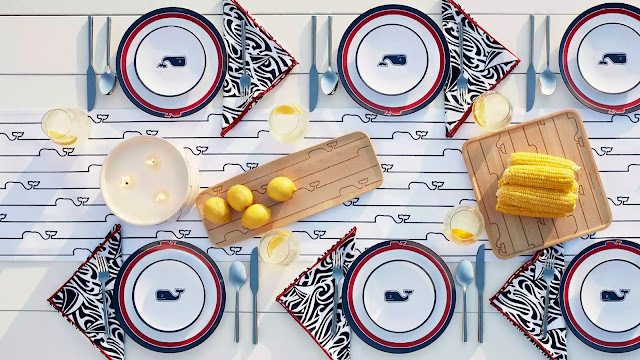 vineyard vines for target tabletop lookbook