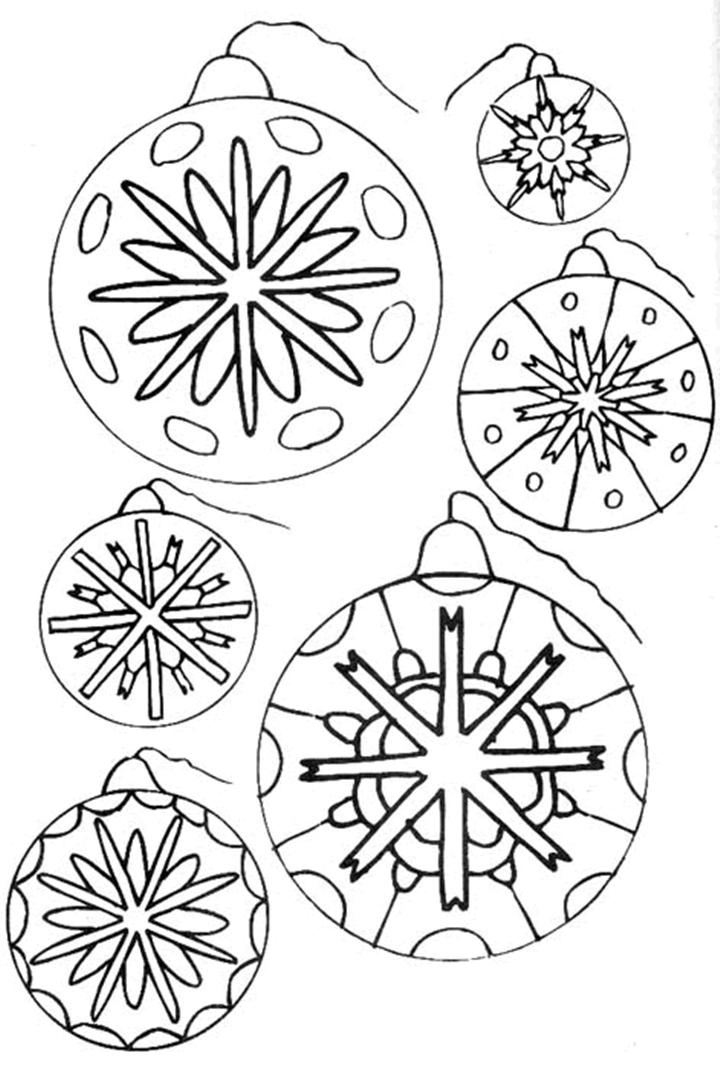 Bolas de Navidad para colorear - Dibujos para Colorear y Pintar Gratis