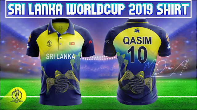 Sri Lanka 2019 Worldcup Shirt Design in Photoshop cc 2019 by M Qasim Alil