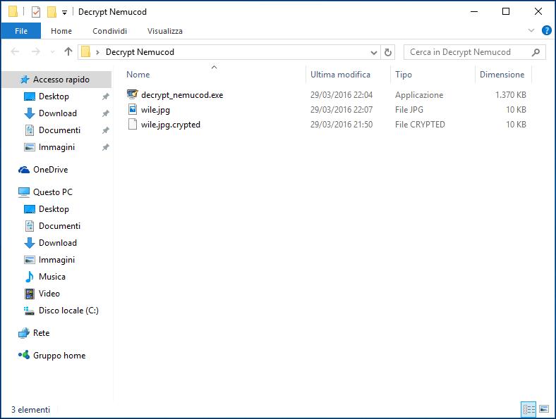 Nemucod - Creazione cartella sul desktop