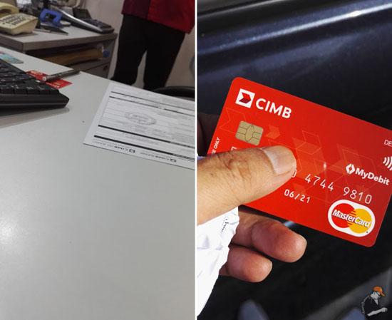 Cara Tukar Kad Debit CIMB Pin & Pay